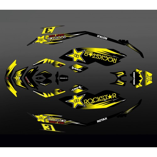 photo du kit décoration - Kit décoration 100% Perso Rockstar Edition - Seadoo Spark