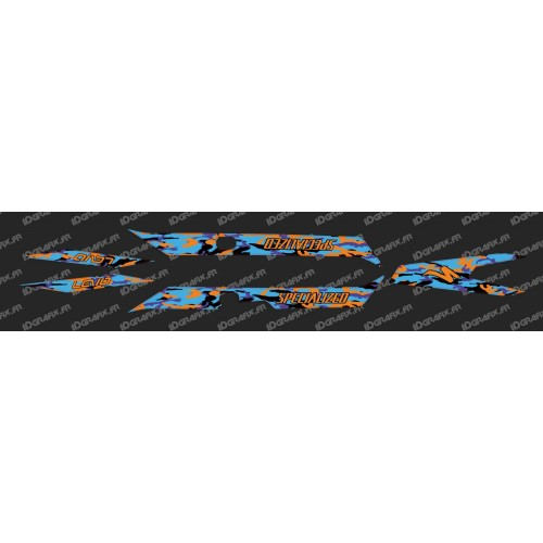 Kit déco CAMO BLUE Edition Light (Orange)- Specialized Turbo Levo-idgrafix