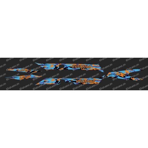 Kit déco CAMO BLUE Edition Light (Orange)- Specialized Turbo Levo