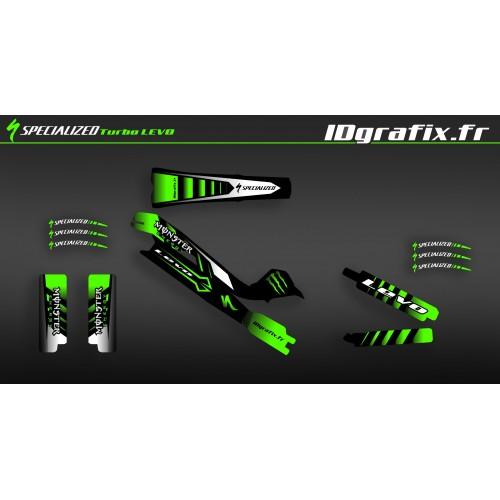 Kit deco 100% Personalizzato Mostro Edizione Completa (Verde) - Specialized Turbo Levo -idgrafix