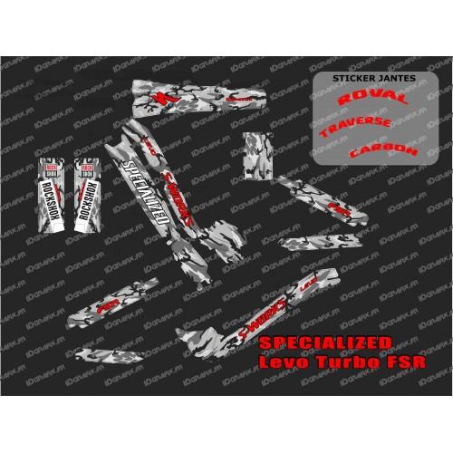 Kit déco Camo SWORKS Edition Full (Rouge) - Specialized Turbo Levo-idgrafix