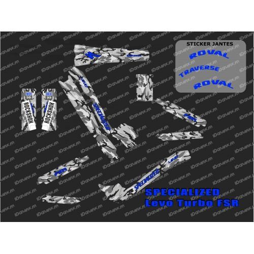 Kit deco Camo SPE Edizione Completa (BLU) - Specialized Turbo Levo -idgrafix