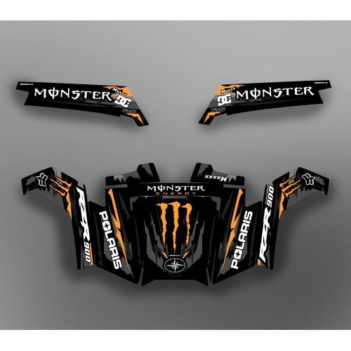 Kit dekor Monster Race Edition (Orange) - IDgrafix - Polaris RZR 900 XP -idgrafix