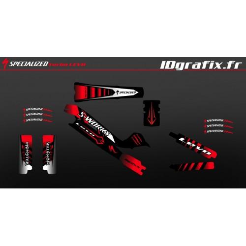 Kit deco 100% Personalitzat Monstre Edició Completa (Vermell) - Especialitzada Turbo Levo SWORKS -idgrafix
