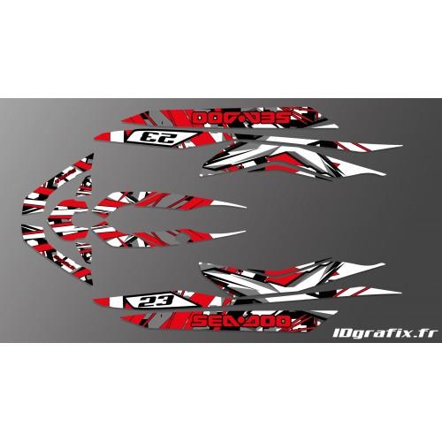 Kit dekor-X Team Red für Seadoo RXT 260 / 300 (S3-rumpf) -idgrafix