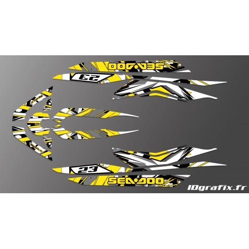 Kit de decoración de X Equipo Amarillo para Seadoo RXT 260 / 300 (S3 casco) -idgrafix