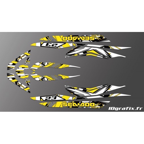 Kit decorazione X il Team Giallo per Seadoo RXT 260 / 300 (S3 scafo) -idgrafix