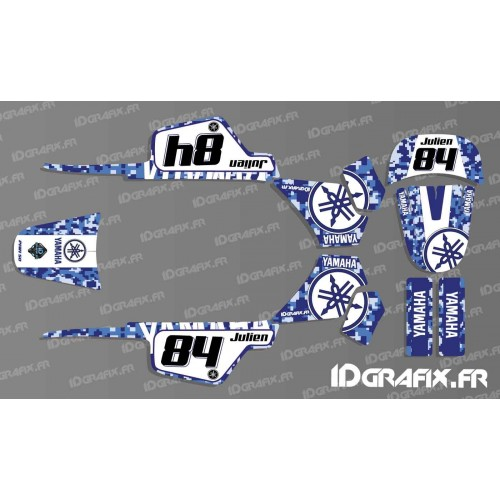 photo du kit décoration - Kit décoration Digital Bleu Full - IDgrafix - Yamaha 50 Piwi