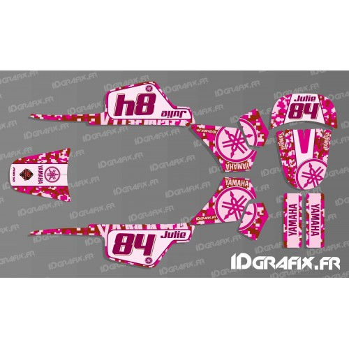 photo du kit décoration - Kit décoration Digital Rose Full - IDgrafix - Yamaha 50 Piwi
