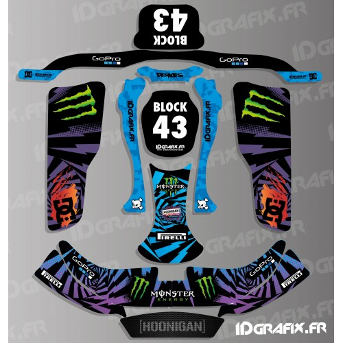 Kit déco 100% Perso Block 2016 series pour Karting KG EVO-idgrafix