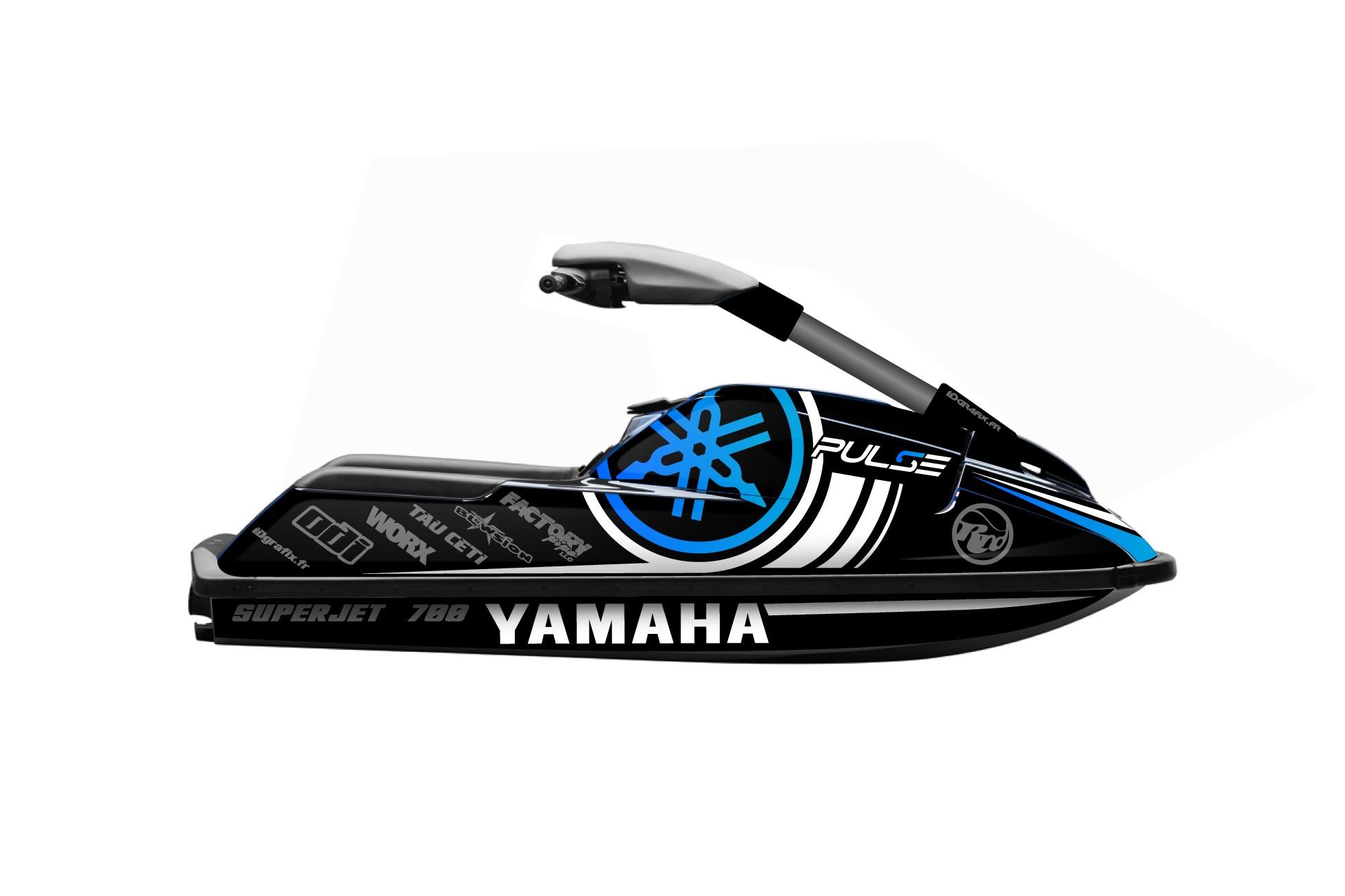 Kit décoration Pulse BLUE pour Yamaha Superjet 700 - idgrafix