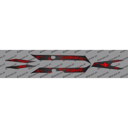 Kit deco di CARBONIO Edizione della Luce (Rosso)- Specialized Turbo Levo -idgrafix