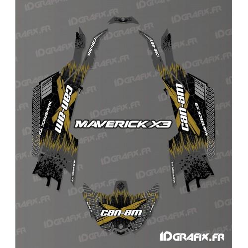 Kit de decoración Agrietado de la Serie de Oro - Idgrafix - Can Am Maverick X3