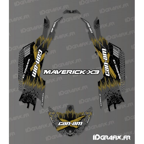 Kit decorazione di Cracking Serie Oro - Idgrafix - Can Am Maverick X3 -idgrafix