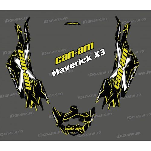 Kit de decoración de XTeam de la Serie de color Amarillo - Idgrafix - Can Am Maverick X3