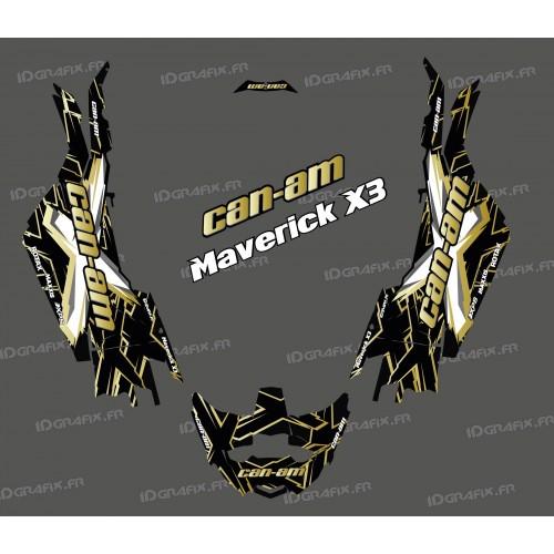 Kit de decoración de XTeam de la Serie de Oro - Idgrafix - Can Am Maverick X3