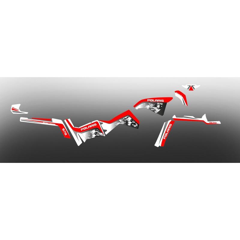 Kit de decoració Camo Sèrie (en Vermell) a la Llum IDgrafix - Polaris 570 Esportista -idgrafix