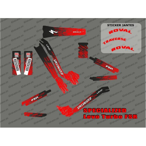 Kit deco LEVO Edition Full (Red) - Specialized Turbo Levo-idgrafix