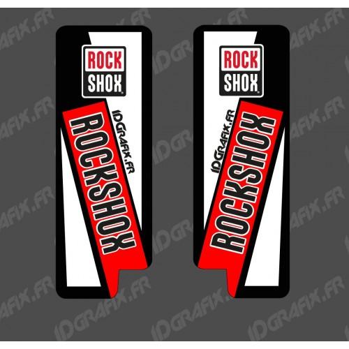 Stickers Protection Fourche RockShox (Rouge) - Specialized Turbo Levo