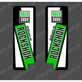 Stickers Protection Fourche RockShox (Vert) - Specialized Turbo Levo