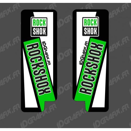Adesivi Protezione Forcella RockShox (Verde) - Specialized Turbo Levo -idgrafix