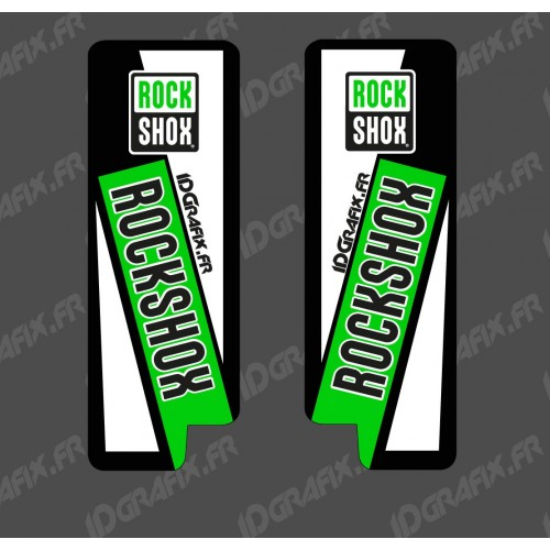 Stickers Protection Fourche RockShox (Vert) - Specialized Turbo Levo