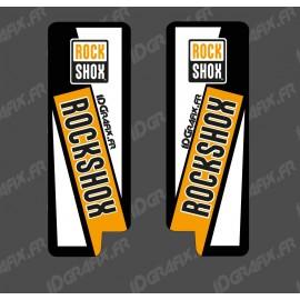 Stickers Protection Fourche RockShow (Orange) - Specialized Turbo Levo