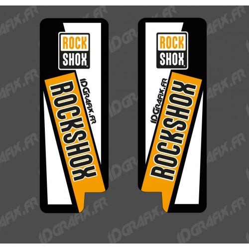 Adesivi Protezione Forcella RockShow (Arancione) - Specialized Turbo Levo -idgrafix