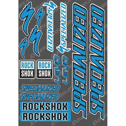 Planche Sticker 21x30cm (Bleu) - Specialized Turbo Levo-idgrafix