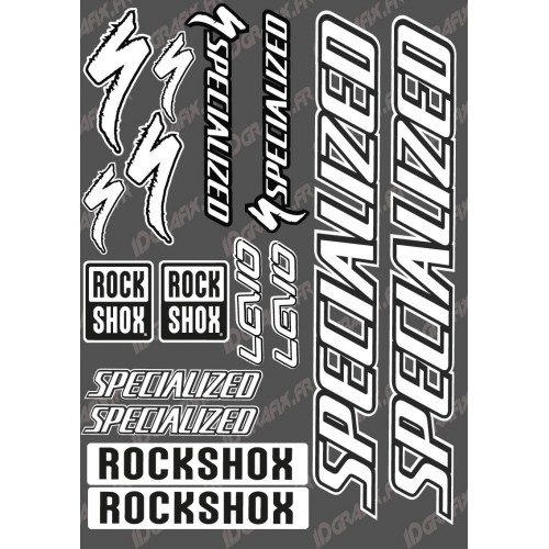 Board Sticker 21x30cm (White) - Specialized Turbo Levo - IDgrafix