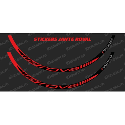 Lot 2 Stickers Rim Roval (Red) - IDgrafix