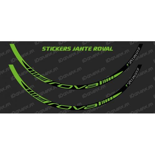 Lot 2 Stickers Rim Roval (Green) - IDgrafix