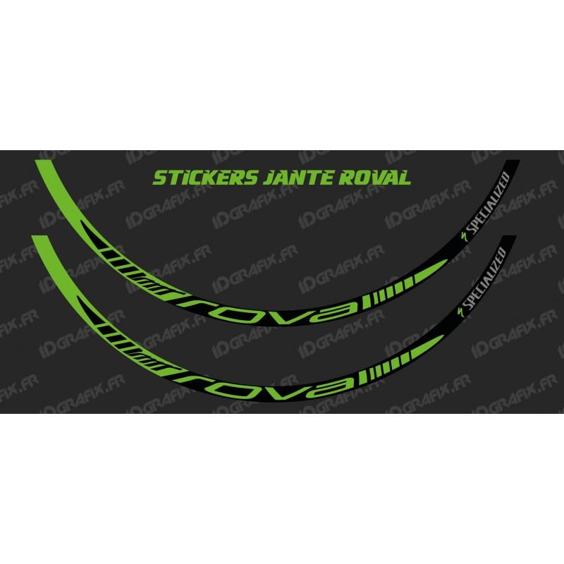 Lot 2 Stickers Rim Roval (Green)-idgrafix