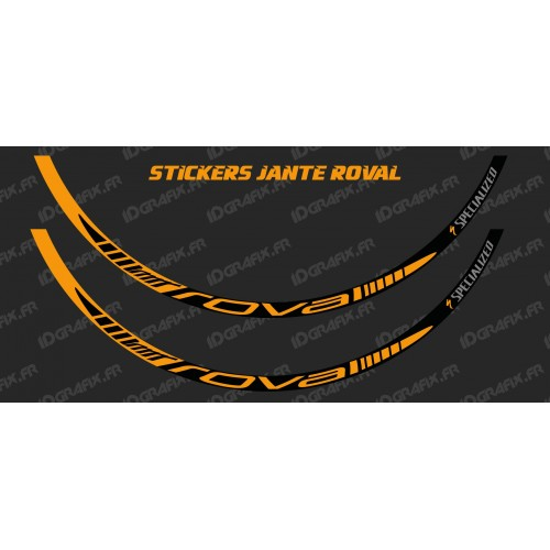 photo of the kit decoration - Lot 2 Stickers Rim Roval (Orange)