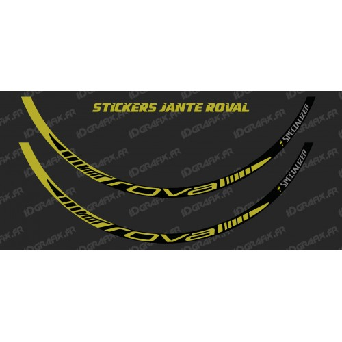 photo of the kit decoration - Lot 2 Stickers Rim Roval (Yellow)