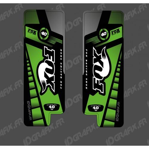 Stickers Protection Fork Fox Edition (Green) - Specialized Turbo Levo - IDgrafix