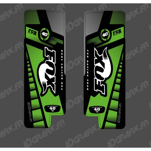 photo du kit décoration - Stickers Protection Fourche Fox Edition (Vert) - Specialized Turbo Levo