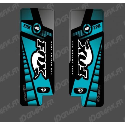 photo du kit décoration - Stickers Protection Fourche Fox Edition (Bleu) - Specialized Turbo Levo