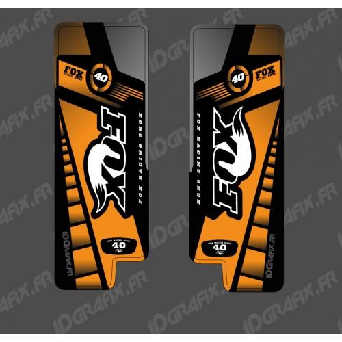 photo du kit décoration - Stickers Protection Fourche Fox Edition (Orange) - Specialized Turbo Levo
