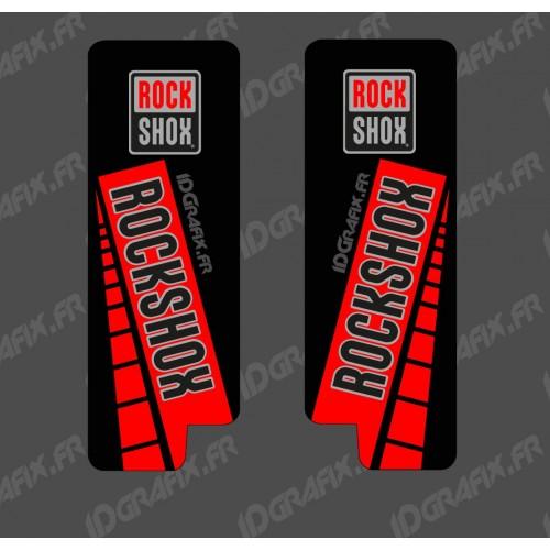 Adesivi Protezione Forcella RockShox GP (Rosso) - Specialized Turbo Levo -idgrafix