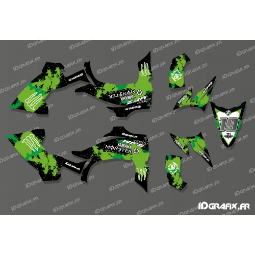photo du kit décoration - Kit déco 100% Perso Monster Full (Vert) - IDgrafix - Yamaha YFZ 450 R