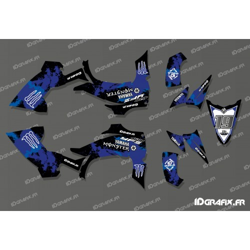 photo du kit décoration - Kit déco 100% Perso Monster Full (Bleu) - IDgrafix - Yamaha YFZ 450 R
