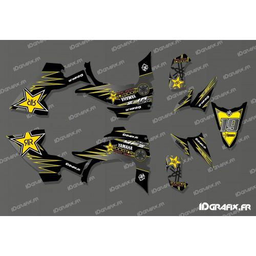 Kit déco 100% Perso Star Full (Jaune) - IDgrafix - Yamaha YFZ 450 / YFZ 450R