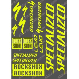 Planche Sticker 21x30cm (Jaune Fluo) - Specialized Turbo Levo