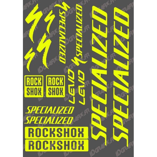 Planche Sticker 21x30cm (Jaune Fluo) - Specialized Turbo Levo-idgrafix