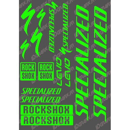 Board Sticker 21x30cm (Neon Green) - Specialized Turbo Levo - IDgrafix