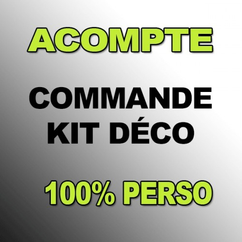 Deposit Kit deco 100 % Custom - BIKE - IDgrafix