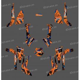 Kit decoration Brush Series (Orange), Medium - IDgrafix - Can Am Outlander (G2)