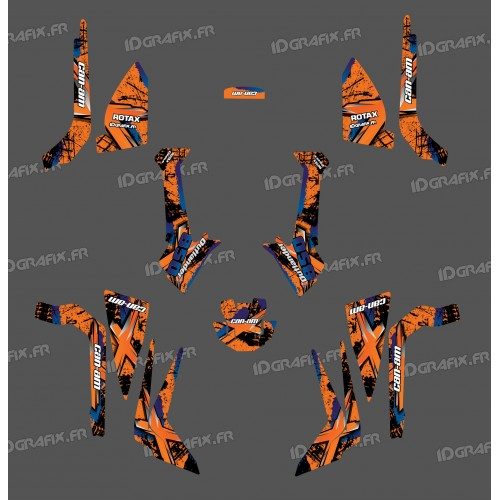Kit decoration Brush Series (Orange), Medium - IDgrafix - Can Am Outlander (G2)