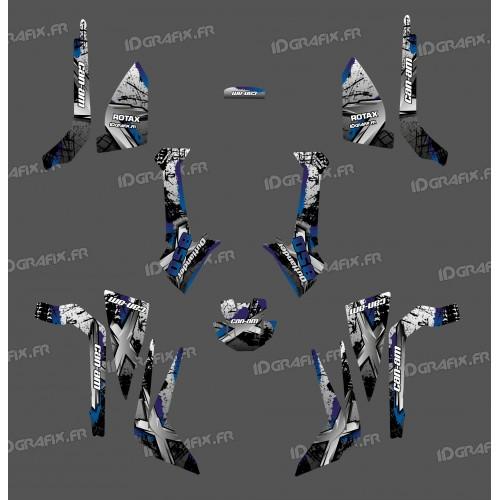 Kit de decoración de Cepillo de la Serie (Gris), Medio - IDgrafix - Can Am Outlander (G2) -idgrafix
